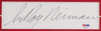 "LeRoy Neiman Signed ""Michael Jordan"" 25x32 Custom Framed Cut Display (PSA COA) at PristineAuction.com"