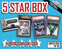 "Sportscards.com ""5 STAR"" Football Card Mystery Box – 5+ SUPER HITS PER BOX!"