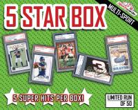 "Sportscards.com ""5 STAR"" Sports Card Mystery Box – 5+ SUPER HITS PER BOX!"