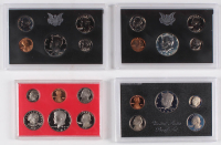 Lot of (4) United States Proof Sets with 1970, 1971, 1980, and 1983