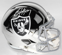 Bo Jackson Signed Oakland Raiders Full-Size Chrome Speed Helmet (JSA COA)
