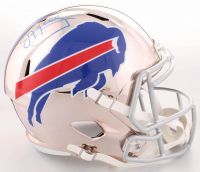 Jim Kelly Signed Bills Full-Size Chrome Speed Helmet (JSA COA) at PristineAuction.com
