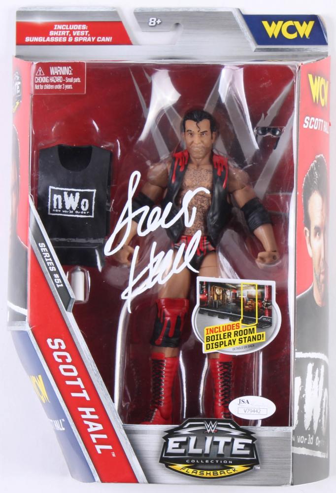 Scott Hall Signed WWE Elite Collection Flashback Action Figure (JSA Hologram) at PristineAuction.com
