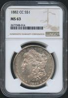 1882-CC $1 Morgan Silver Dollar (NGC MS 63)