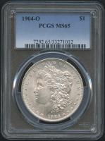 1904-O $1 Morgan Silver Dollar (PCGS MS 65)