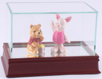Vintage Disney Winnie The Pooh & Piglet Ceramic Figurines with High Quality Display Case at PristineAuction.com