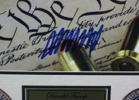 Donald Trump Signed 26x29 Custom Framed Photo Display (PSA COA) at PristineAuction.com