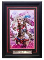 "Greg Horn Signed ""Harley Quinn: Blood Money"" 17x25 Custom Framed Lithograph (SI COA) at PristineAuction.com"