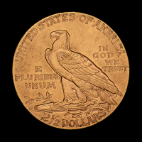 1925-D $2.50 Indian Head Quarter Eagle Gold Coin at PristineAuction.com