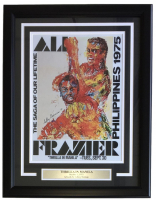 "Leroy Neiman ""Thrilla In Manila"" 18x24 Custom Framed Print Display at PristineAuction.com"
