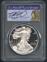 2018 1 oz Silver American Eagle $1 Coin Signed by U.S. Mint AIP Master Designer Thomas S. Cleveland (PCGS PR 70 DCAM)