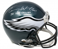 "Carson Wentz Signed Philadelphia Eagles Full-Size Authentic On-Field Helmet Inscribed ""SB LII Champs"" (Fanatics Hologram)"