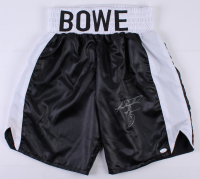 Riddick Bowe Signed Boxing Trunks (JSA COA)