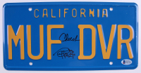 "Cheech Marin & Tommy Chong Signed ""Up in Smoke"" License Plate (Beckett COA)"