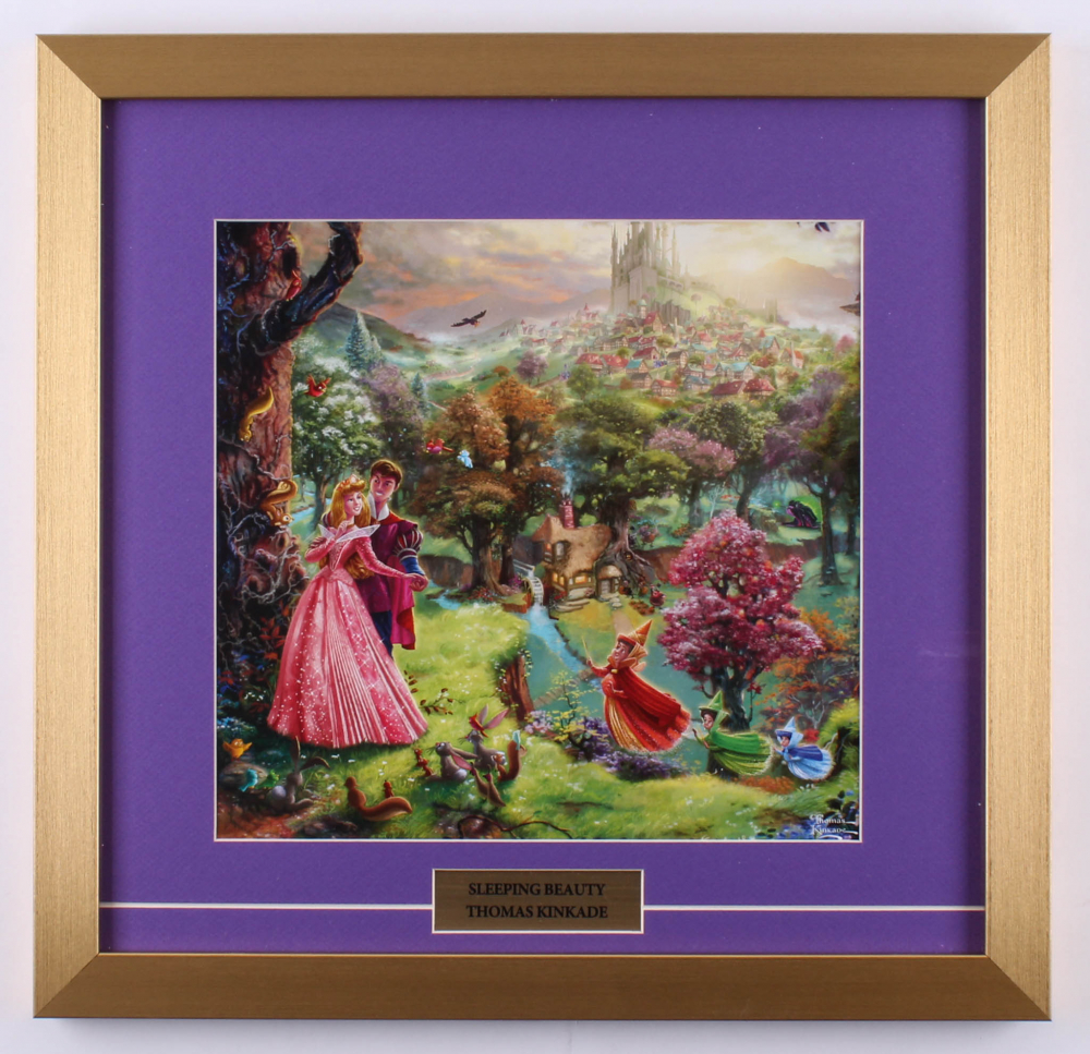 "Thomas Kinkade Walt Disney's ""Sleeping Beauty"" 17.5x18 Custom Framed Print Display at PristineAuction.com"