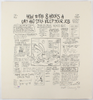 "Matt Groening Signed ""Life in Hell"" 24x26 Limited Edition Poster Inscribed ""83"" (PSA Hologram)"