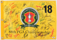 2006 PGA Championship Pin Flag Signed by (44) with Phil Mickelson, Jim Furyk, Camilo Villegas, Fred Couples (PSA LOA)