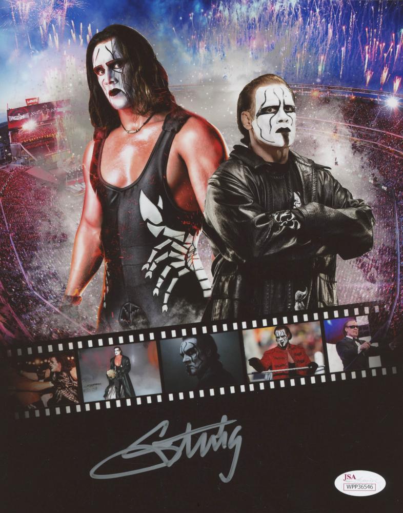 Sting Signed WrestleMania 8x10 Photo (JSA Hologram) at PristineAuction.com