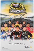 2010 Chase for the Sprint Cup 18x27 Poster Signed by (12) with Jeff Gordon, Kurt Busch, Jimmie Johnson, Kyle Busch (Beckett LOA)