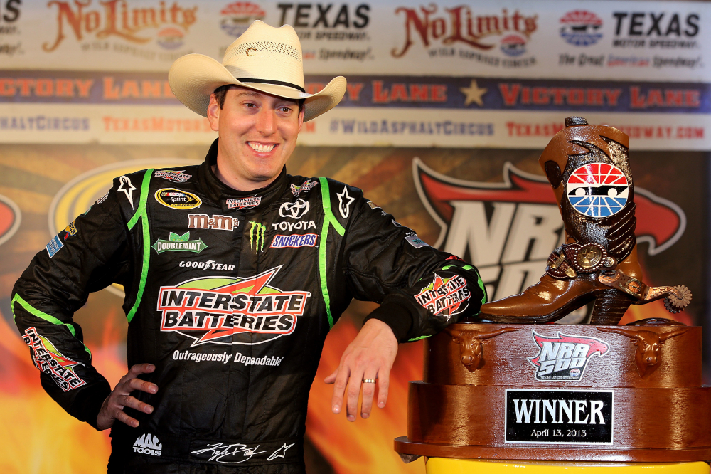 3974872cf26 Kyle Busch Signed Nascar Team Issued Jgr 2016 Texas Nra 500 Win Trophy Cowboy  Hat. Sports Memorabilia Auction Pristine
