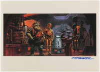 "Ralph McQuarrie Signed 11x15 Stars Wars ""Return of the Jedi Portfolio"" Lithograph (PSA LOA)"