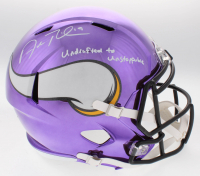 "Adam Thielen Signed Vikings Chrome Speed Full-Size Speed Helmet Inscribed ""Undrafted to Unstoppable"" (TSE COA)"