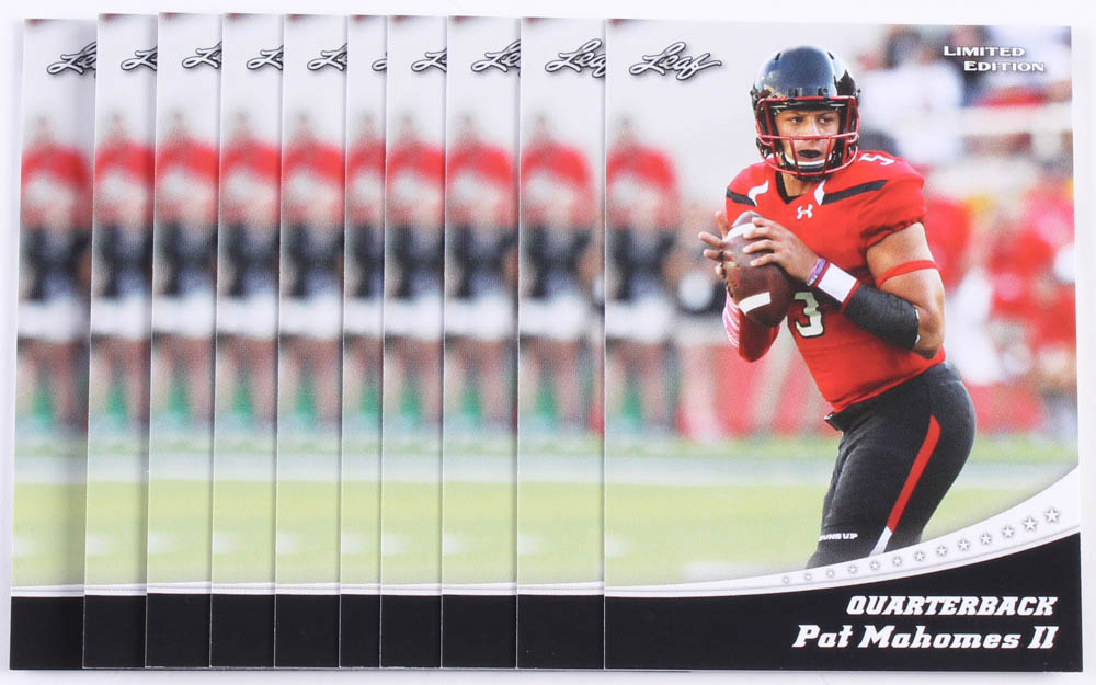 Lot Of 10 2017 Leaf Limited Edition Rookie Card 13 Patrick Mahomes Ii