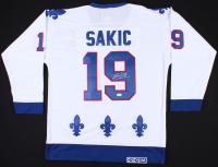 Joe Sakic Signed Nordiques Captains Jersey (JSA COA)