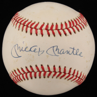 Mickey Mantle Signed OAL Baseball with Display Case (PSA LOA) at PristineAuction.com