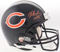 "Mike Singletary Signed Bears Full-Size Authentic On-Field Helmet Inscribed ""HOF 98"" (JSA COA)"