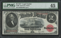1917 $2 Two Dollars Legal Tender Large Bank Note (PMG 45)