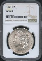 1899-O $1 Morgan Silver Dollar (NGC MS 65)