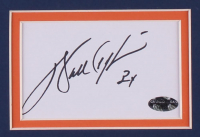 Walter Payton Signed Chicago Bears 35x43 Custom Framed Cut Display with Jersey (Payton COA) at PristineAuction.com