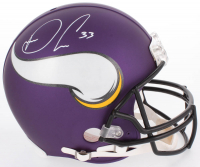 Dalvin Cook Signed Vikings Full-Size Authentic On-Field Helmet (JSA COA)