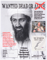 "Robert O'Neill Signed LE ""Bin Laden Wanted Dead or Alive"" Cut On 13x16 Photo (PSA COA)"