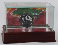 Willie Mosconi Signed #8 Pool Ball with LeRoy Neiman Display Case (JSA COA) at PristineAuction.com