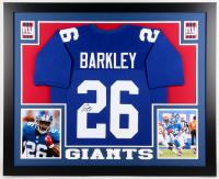 Saquon Barkley Signed Giants 35x43 Custom Framed Jersey (JSA Hologram)