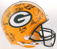 LE Super Bowl XXXI Champions Packers Full-Size Authentic On-Field Helmet Team-Signed by (23) With Brett Favre, Chris Jackie, Dorsey Levens (Radtke COA) at PristineAuction.com