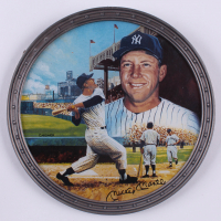 """Mickey Mantle LE Yankees """"1961 Home Run Chase"""" 1996 Bradford Exchange Porcelain Plate"""