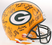 LE Super Bowl XXXI Champions Packers Full-Size Authentic On-Field Helmet Team-Signed by (23) With Brett Favre, Chris Jackie, Dorsey Levens (Radtke COA)