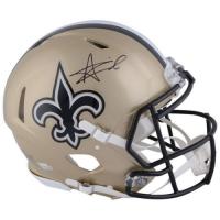 Alvin Kamara Signed Saints Full-Size Authentic On-Field Speed Helmet (Fanatics Hologram) at PristineAuction.com