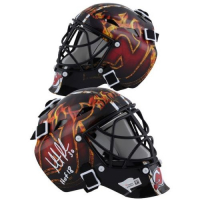 "Martin Brodeur Signed Devils Mini Goalie Mask Inscribed ""2018 HOF"" (Fanatics Hologram) at PristineAuction.com"