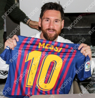 Lionel Messi Signed Jersey (Icons COA) at PristineAuction.com