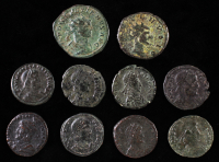 Lot of (10) Late Roman Ancient Coins at PristineAuction.com