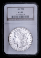 1887 Morgan Silver Dollar (NGC MS 65) at PristineAuction.com