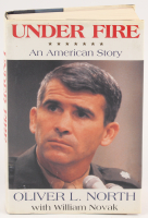 """Oliver North  Signed """"Under Fire: An American Story"""" Hardcover Book (JSA COA)"""