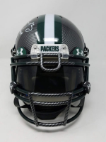 """Aaron Rodgers Signed Packers LE Custom Hydro Dipped Grey Full-Size Authentic On-Field Helmet Inscribed """"XLV MVP"""" (Steiner COA) at PristineAuction.com"""