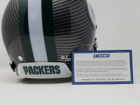 "Aaron Rodgers Signed Packers LE Custom Hydro Dipped Grey Full-Size Authentic On-Field Helmet Inscribed ""XLV MVP"" (Steiner COA) at PristineAuction.com"
