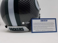 Aaron Rodgers Signed Packers LE Custom Hydro Dipped Grey Full-Size Authentic On-Field Helmet (Steiner COA) at PristineAuction.com