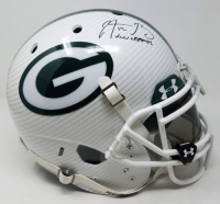 "Aaron Rodgers Signed Packers LE Custom Hydro Dipped White Full-Size Authentic On-Field Helmet Inscribed ""XLV Champs"" (Steiner COA) at PristineAuction.com"